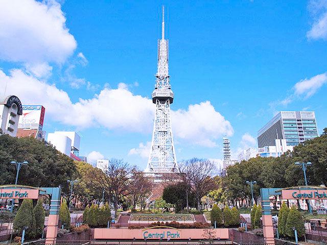 名古屋テレビ塔から公園を縦断してみよう!
